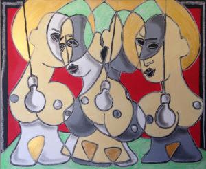 castella- les saintes nitouches - 50x61