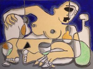 castella-pique nique nocturne - 60x80